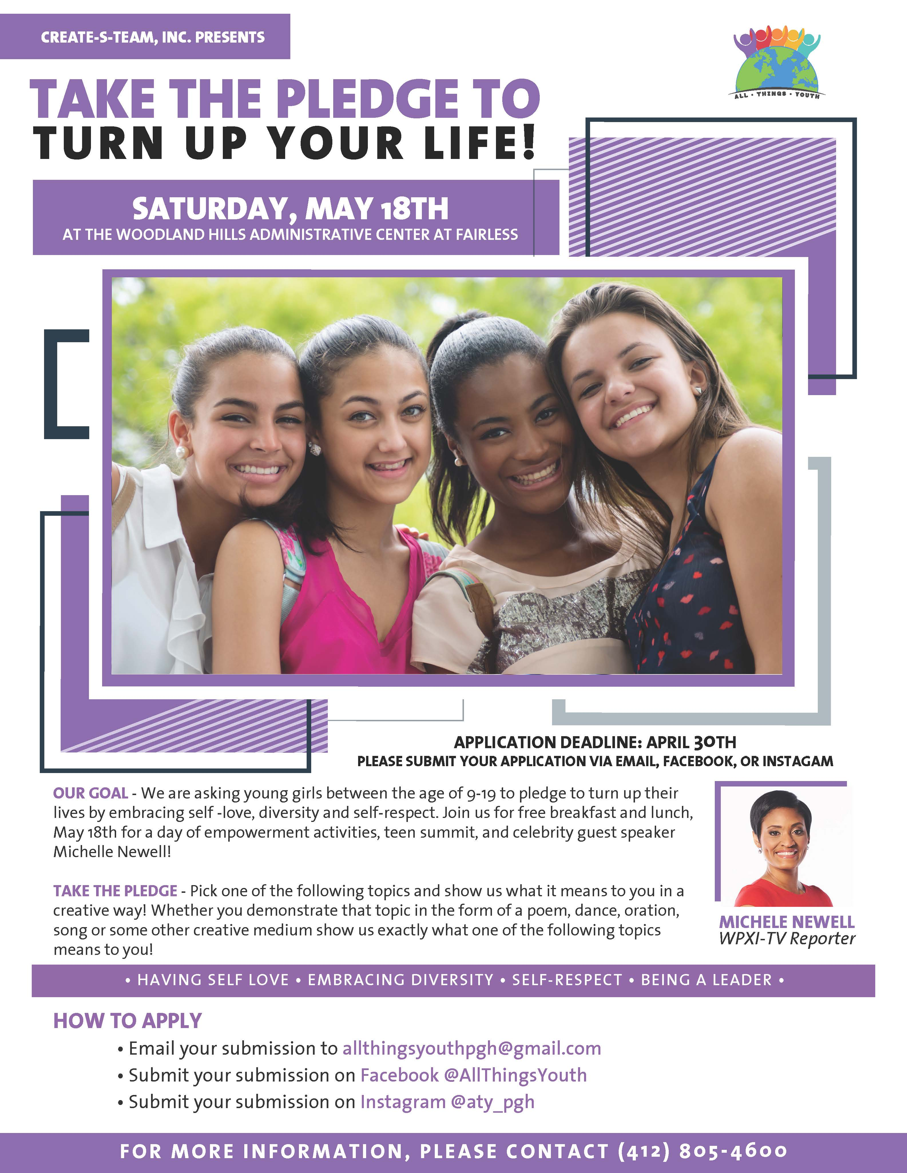 TAKE THE PLEDGE TO TURN UP YOUR LIFE GIRL'S EMPOWERMENT CONFERENCE