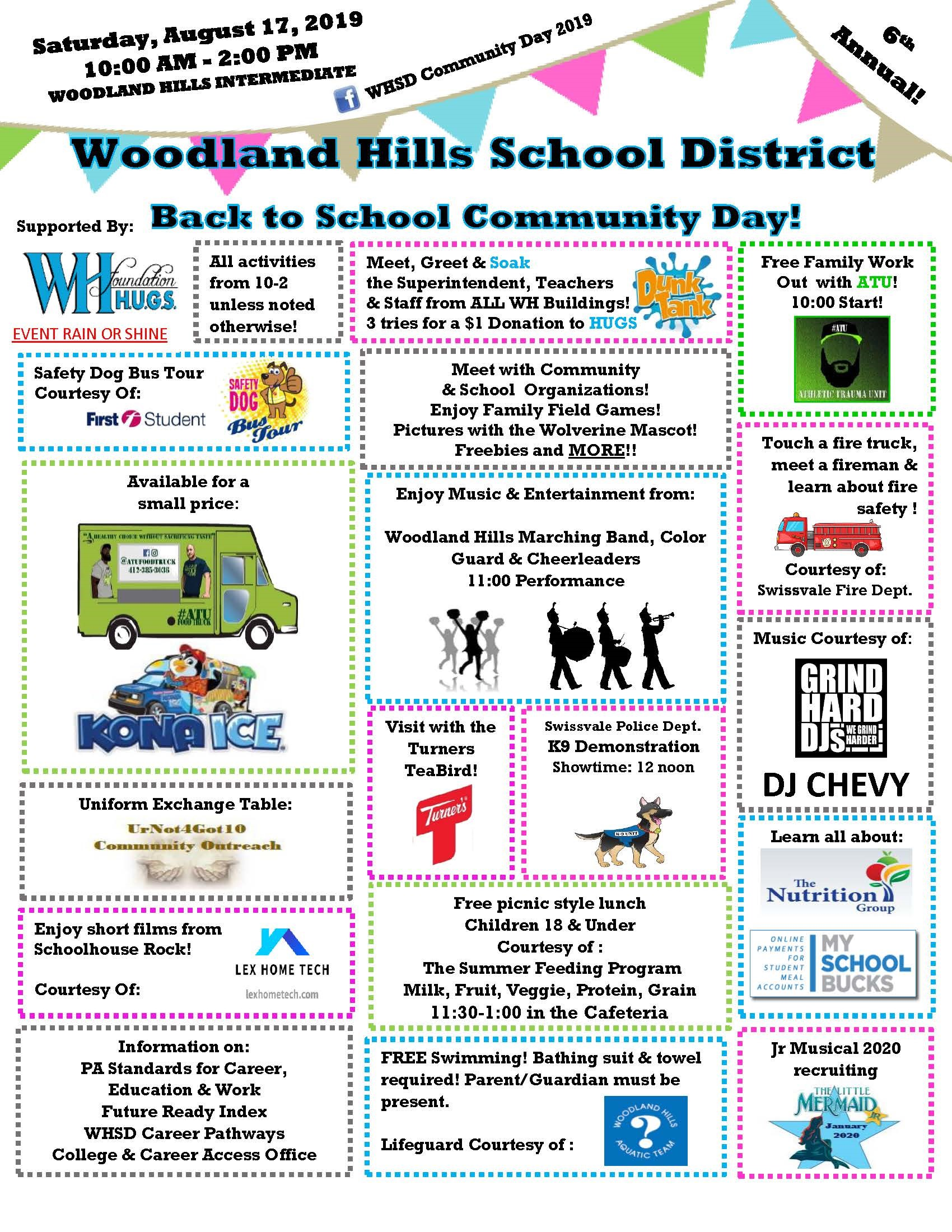 The 6th Annual Woodland Hills School District Community Day